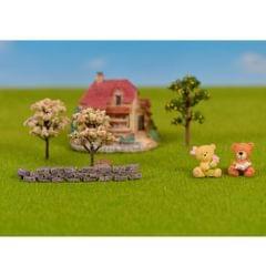 Miniature Bricks Fairy Garden Micro Landscape Bonsai Pot Craft DIY Decor S