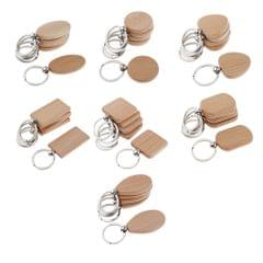 5X Wood Charms Blank For DIY Personal Keychain  round 37x37mm