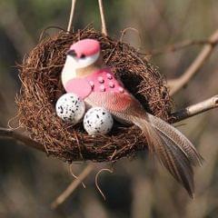 Handmade Vine Bird Nest House Home Nature Craft Sill Holiday Decoration 6cm