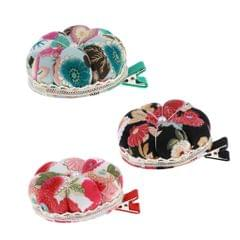 Pumpkin Needle / Pin Cushion with Fixable Clip Pincushion Sewing Tool Red