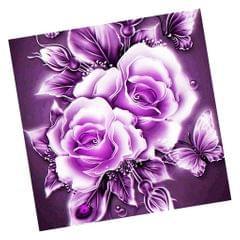 DIY Flower Diamond Embroidery Cross Stitch Craft Home Wall Decor purple red