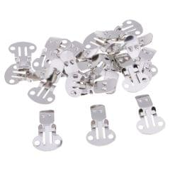 20 Pieces Stainless Steel Flat Blank Shoe Clips DIY Crafts Findings Small