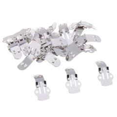 20 Pieces Stainless Steel Flat Blank Shoe Clips DIY Crafts Findings Medium