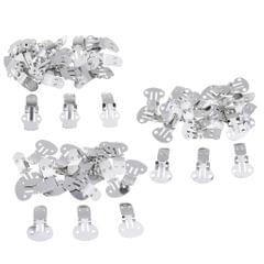 20 Pieces Stainless Steel Flat Blank Shoe Clips DIY Crafts Findings Big