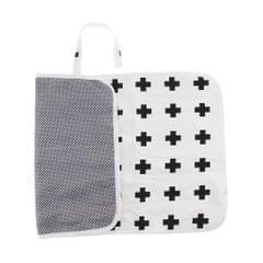 Babies Portable Foldable Compact Travel Diaper Changing Mat Black Cross