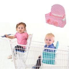 Foldable Baby Shopping Cart Cushion Toddler Kids Trolley Chair Seat Mat Pink