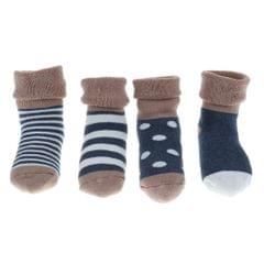4 pairs of cotton children socks 0-6Month Blue