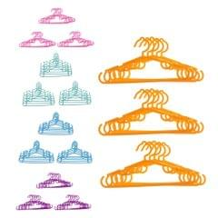 Plastic Coat Clothes Garment Trousers Hangers for Kids Baby Yellow