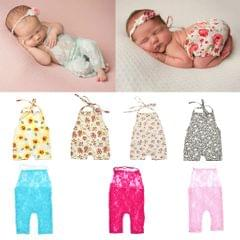 Newborn Baby Photo Props Outfit Lace Romper for Boy Girls Photography Shoot Style 1-Red