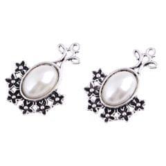 5Pcs/Lot Silver Antique Pendant Alloy Pearl Pendant Jewelry DIY Plum Blossom