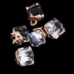 5PCS/Lot Crystal Square Bead Pendant Necklace For Women Jewelry  White
