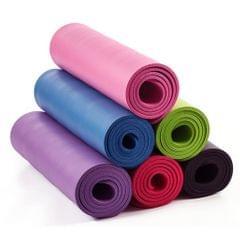 Yoga Pilates Mat Fitness Exercise Dance Women Men Home Cushion Pad Purple