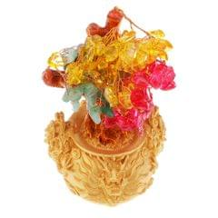 Crystal Money Tree Bring Wealth Luck Home Decor Birthday Gift 18cm A