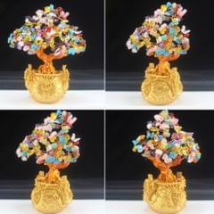 Crystal Money Tree Bring Wealth Luck Home Decor Birthday Gift 18cm  B