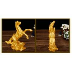 Resin Horse Model Home Decoration Accessories Arts and Craft  L Gold #2