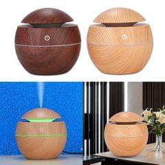 130ml Wood Grain USB Air Mist Humidifier for Home Office Car  Light Brown