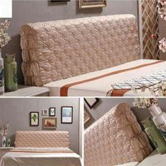 Luxury Silk Bed Headboard Slip Cover Protector Bed Decoration Champagne