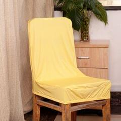Spandex Stretch Low Short Back Chair Cover Bar Stool Cover Yellow