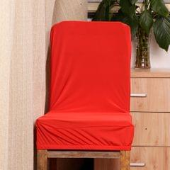Spandex Stretch Low Short Back Chair Cover Bar Stool Cover Red