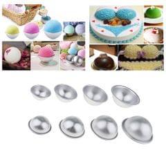 4 Sets 4 Sizes Aluminum Bath Bomb Mold Mould DIY Soap Cake Making Mould