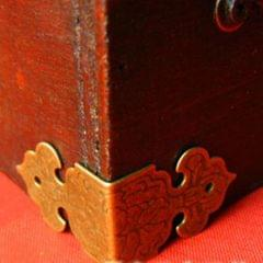 30 Pieces Vintage Decorative Wood Box Corner Protector Guard Edge Cover