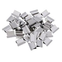 40 Pcs Refill Clips Paper Clips Push Clamps Trumpet Paper Holder Stationery