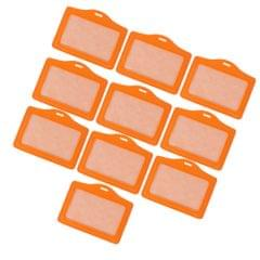 10 Pieces Credit Card Bus Pass ID Badge Holder Protector  Orange