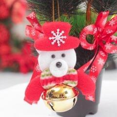 Christmas Doll Bell Pendant Hanging Xmas Ornament Home Decor Bear
