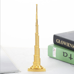 Alloy Dubai Halifah Tower Satue World Landmark Building Home Decor Golden