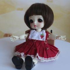 Adorable Doll Short Hair Bob Wig 1/8 BJD Doll Making Supplies Dark Brown