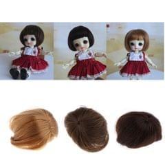 Adorable Doll Short Hair Bob Wig 1/8 BJD Doll Making Supplies Black