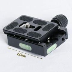 Metal Clamp 60mm Quick Release Plate For Arca-Swiss Tripod Monopod Adapter