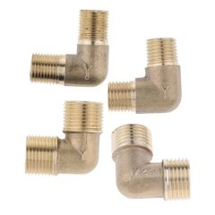 Brass Male Elbow Adapter Connector 1/2'' 1/4'' 1/8'' 3/8'' Thread Fittings A