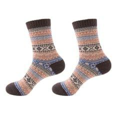 Mens Thick Winter Wool Socks Soft Warm Socks Casual Crew Socks Coffee