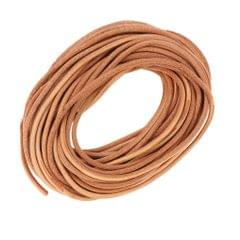 10m Round Leather Cord for Jewelry Making 2.5mm Diameter