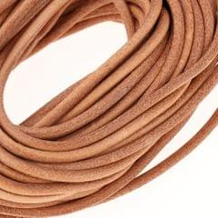 10m Round Leather Cord for Jewelry Making 3mm Diameter