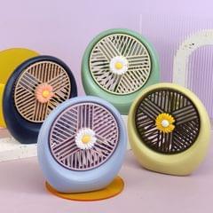 USB Fan Mini Silent Student Dormitory Bed Fan Office Desktop Fan(Purple)
