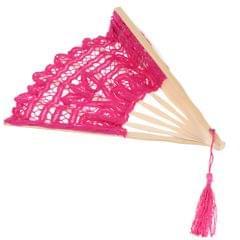 Retro Chinese Lace Folding Hand Held Dance Fan Wedding Party Fan Rose