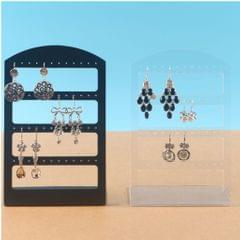 5 Pieces Acrylic Modern Earring Stud Tray Jewelry Display Transparent Large