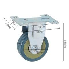 "2"" Directional Swivel Plate Casters Wheel for Chair Table Crib Machine PVC"