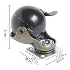1.5'' Swivel Ball Caster PP Wheels with Brake Lock Screw-in Universal