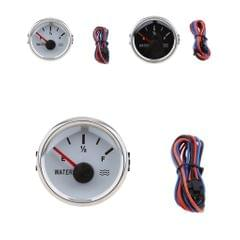"""2"""" 52mm 100% Waterproof Protection Whit Water Level Gauge for Boat White"""