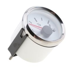 52mm Waterproof Protection Oil Pressure Gauge for Boat / Yacht White Chrome