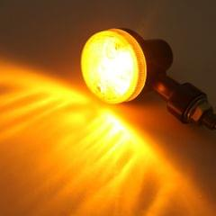 12V Universal Motorcycle Turn Signal Light Round Indicator Lamp Type 1