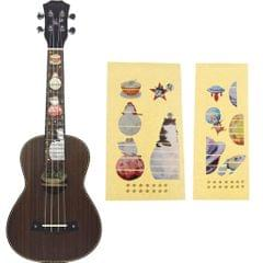 Ukulele Fingerboard Fret Board Sticker Decal Inlay for 4 String Guitar Cat
