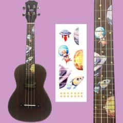 Ukulele Fingerboard Fret Board Sticker Decal Inlay for 4 String Guitar Space