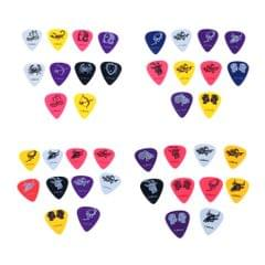 10pcs Celluloid Colorful Guitar Bass Picks Plectrums 0.46mm