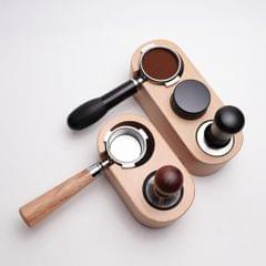 Barista Wood Coffee Tamper Holder Espresso Stand Base Three holes