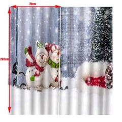 Christmas Living Room Bedroom Window Drapes 2 Panel Set 104x84inch E