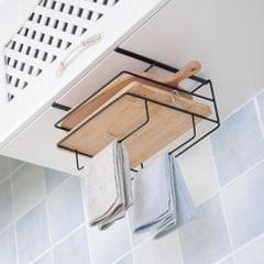 Over Door Hook Hanger Cutting Board Dishes Shelf Storage Kitchen Rack  black